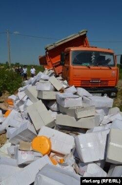 Уничтожение сыра под Белгородом, 6 августа 2015 года