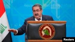 وزير الخارجية هوشيار زيباري في مؤتمر صحفي سابق ببغداد