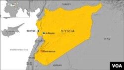 شهر بانیاس در غرب سوریه و در ساحل مدیترانه قرار دارد