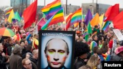 Гей-парад в Амстердаме 8 апреля 2013 г.