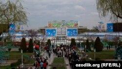 Uzbekistan - Norouz (Navruz in Tashkent), National park named after Alisher Navoiy, 21Mar2013
