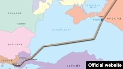 Mapa Turskog toka