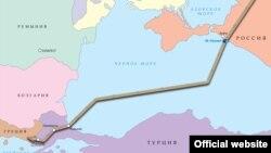 «Թուրքական հոսք»-ի քարտեզը