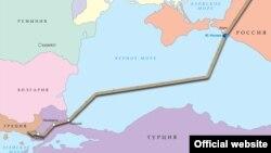 Карта пролягання «Турецького потоку»