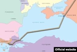 """Планируемый маршрут газопровода """"Турецкий поток"""""""