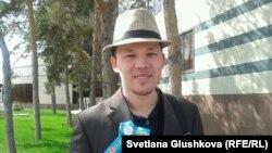 Махамбет Абжан, гражданский активист. Астана, 8 мая 2014 года.