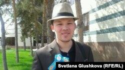 Астаналық белсенді Махамбет Әбжан.