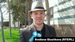 Махамбет Абжан, руководитель организации «Шанырак». Астана, 8 мая 2014 года.