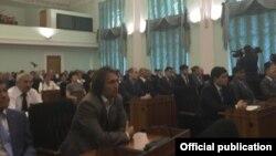 ширкатдорони мулоқот бо президент Раҳмон дар донишгоҳи Уфа