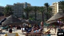 Туніскі курорт у мірны час, архіўнае фота