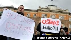 Сараєво, четвертий день протестів, 9 лютого 2014 року: «Банду у відставку», «Хочемо відставки всього уряду»…