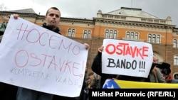 Bosnia-Herzegovina-Fourth Day of Protest, Sarajevo, 9Feb2014