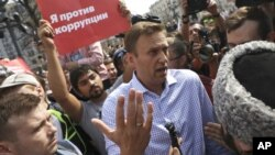 Navalny etiraz aksiyasında