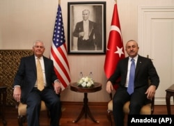 Mevlut Cavusoglu i Rex Tillerson, u Ankari 16. februara