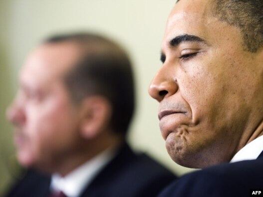 باراک اوباما، رئیس جمهور آمریکا و رجب طیب  اردوغان، نخستوزیر ترکیه