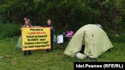 Дольщики ЖК МЧС при открытии палаточного лагеря
