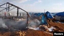 Hüjüme sezewar edilen bosgunlar lageri, Idlib welaýaty