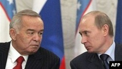 Ислом Каримов Владимир Путин билан.