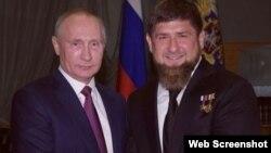 Ресей президенті Владимир Путин мен Шешенстан басшысы Рамзан Қадыров.