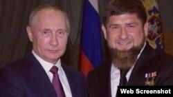 Президент России Владимир Путин и глава Чечни Рамзан Кадыров в Кремле (архивный снимок)