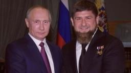 Оьрсийчоьнан президент Путин Владимир а, Нохчийчочьнан куьйгалхо Кадыров Рамзан а