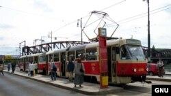 Чехия трамвайи.
