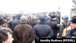 Protesta në Quba në Azerbajxhan