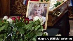 Похорон російської голови адміністрації Чорноморського району Республіки Крим Людмили Глушко 12 грудня 2019 року