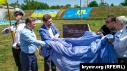 Відкриття пам'ятного знака жертвам геноциду кримськотатарського народу. Херсон, Україна. 18 травня 2019 року