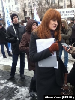 """""""What is the right to life, ingrained in our constitution, if you don't have the right to bear arms?"""" says group founder Maria Butina."""
