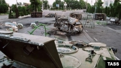 Андижон марказининг 2005 йил 14 май кунги манзараси.
