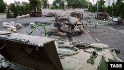 Площадь в Андижане после кровавых событий мая 2005 года.
