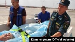 Евакуація тяжкохворого з Криму в Росію, аеропорт «Сімферополь»