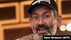 Лидер протестного движения в Армении Никол Пашинян.