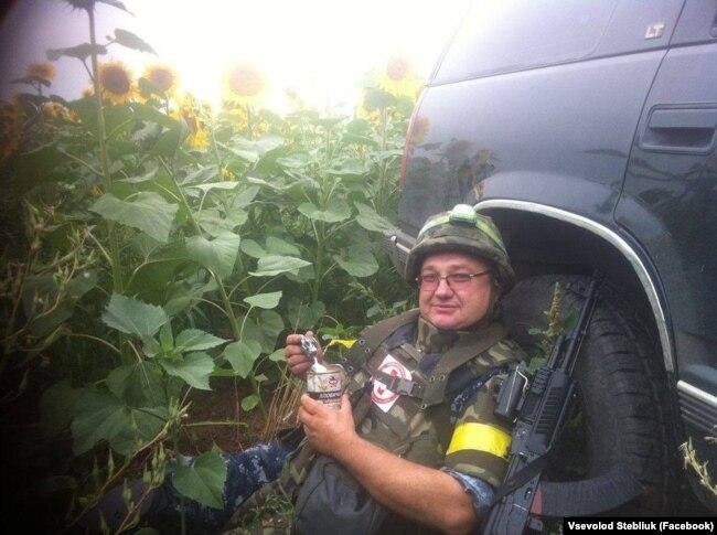Всеволод Стеблюк у зоні бойових дій на сході України
