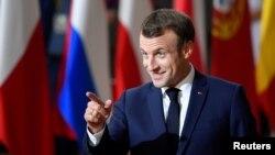 Архивска фотографија- францускиот претседател Емануел Макрон
