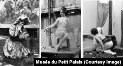 Models posing for Mucha during the painting of the various friezes that illustrated the Bosnian pavilion