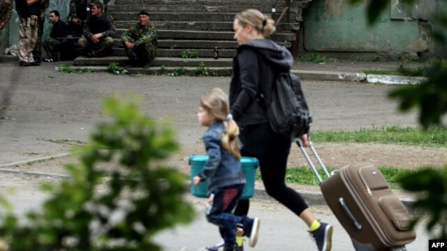 Thousands have fled the fighting in eastern Ukraine.