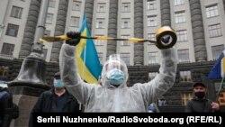 Підприємці провели акцію протесту «Кабмін на карантин» – фотогалерея
