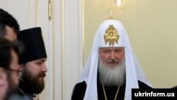 Патриарх Московский и всея Руси Кирилл на встрече с украинским премьером Юлией Тимошенко в Москве