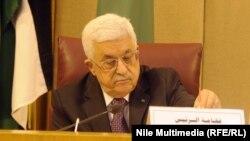 Палестина басшысы Махмуд Аббас Араб елдері лигасы сыртқы істер министрлерінің жиынында отыр. Каир, 15 қаңтар 2015 жыл.
