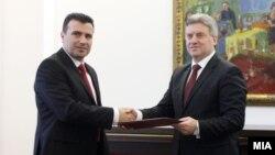 Zoran Zaev dhe Gjorge Ivanov, fotografi nga arkivi