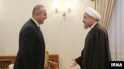 دیدار رییس جمهوری ایران با وزیر خارجه ترکیه در تهران