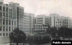 Паштоўка «Дом ураду Б.С.С.Р. Менск». 1930-я гг.