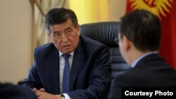 Kyrgyz Prime Minister Sooronbai Jeenbekov has formally resigned. (file photo)