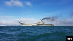 Britain sent military escorts when Russia's sole aircraft carrier, the Admiral Kuznetsov, sailed through the English Channel last year.