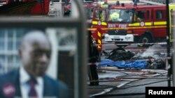 Մեծ Բրիտանիա - Լոնդոնի Վոքսհոլ շրջանում ուղղաթիռի վթարի վայրը, 16-ը հունվարի, 2013թ.