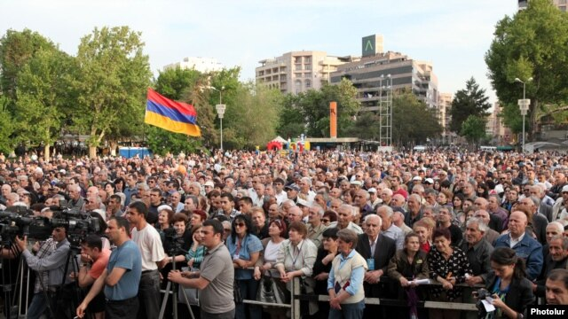 Armenia -- Armenian National Congress rally, 08May2012