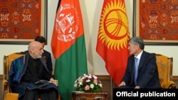 Хамид Карзай жана Алмазбек Атамбаев