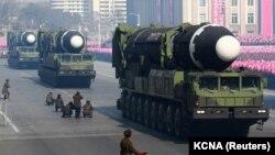 رژه نظامی در کره شمالی در سال ۲۰۱۸